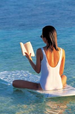 reading bum in the sun